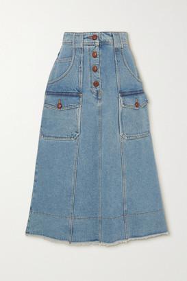 Philosophy di Lorenzo Serafini Denim Midi Skirt - Light denim