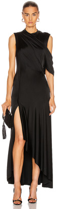 Monse Asymmetrical Drape Shoulder Gown in Black | FWRD