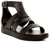 Via Spiga Cora Ostrich Embossed Platform Sandal