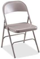 Lorell 4-Carton Folding Chairs, Steel Seat, 19-3/8 by 18-1/4 by 29-5/8-Inch