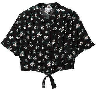 Love, Fire Button Up Tie Front Top (Big Girls)