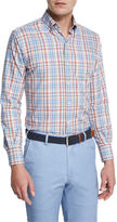 Peter Millar Melange Plaid Sport Shirt