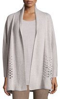 Lafayette 148 New York Oversized Open Metallic Eyelet Cardigan, Luxor Metallic