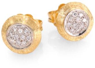 Marco Bicego Delicati Diamond, 18K Yellow & White Gold Stud Earrings