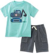 Kids Headquarters 2-Pc. Cotton Graphic-Print T-Shirt & Cargo Shorts Set, Baby Boys (0-24 months)