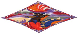 Etro Pleated printed silk scarf