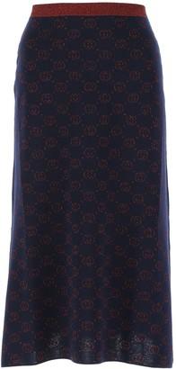 Gucci G Monogram Knit Skirt