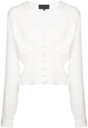 Nili Lotan Laila cropped blouse