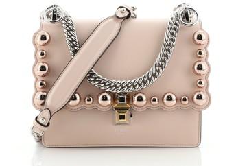 Fendi Kan I Bag Pearl Embellished Leather Small