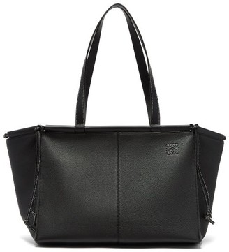 Loewe Cushion Large Grained-leather Tote Bag - Black