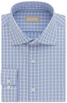 Michael Kors Men's Slim-Fit Non-Iron Blue Check Dress Shirt
