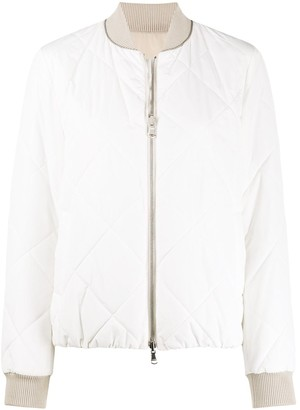 Brunello Cucinelli Padded Zip-Up Bomber Jacket