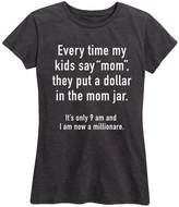 Instant Message Women's Women's Tee Shirts HEATHER - Heather Charcoal 'Mom Jar' Relaxed-Fit Tee - Women
