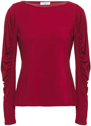 Bailey 44 Olivia Ruched Stretch-jersey Top