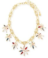 Sequin Marquis Crystal Flower Necklace