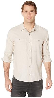 Toad&Co Taj Hemp Long Sleeve Shirt Slim (Oatmeal Chambray) Men's Clothing