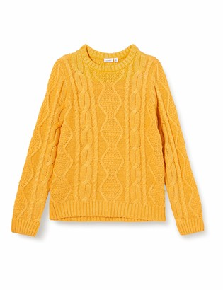 Name It Girls' NKFLOVENIA LS Knit Sweater