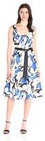 Robbie Bee Women's Scoop Neck One Piece Sleeveless Missy Dress