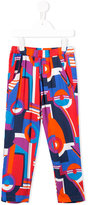 Junior Gaultier printed trousers - kids - Viscose - 4 yrs