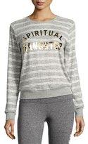 Spiritual Gangster Collegiate Arch Metallic-Logo Sweatshirt