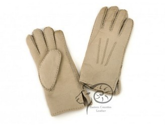 Eastern Counties Leather Womens/Ladies 3 Point Stitch Detail Sheepskin Gloves (S) (Grey)
