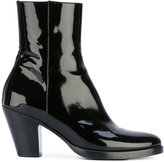 A.F.Vandevorst patent ankle boots