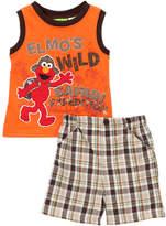 Children's Apparel Network Sesame Street Elmo Mandarin Orange Tank & Shorts - Infant