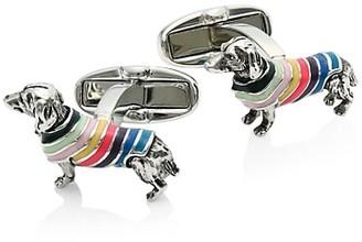 Paul Smith Dog In Stripes Cufflinks