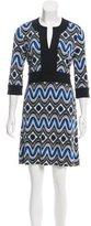 Tory Burch Long Sleeve Printed Dress