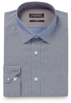 St George By Duffer Big And Tall Blue Slim Fit Fine Striped Shirt