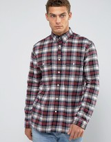 Jack Wills Salcombe Plaid Shirt In Regular Fit In Flannel Black