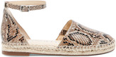 Sole Society Women's Saylah Closed Toe Espadrille Brown Size 5 Suede From