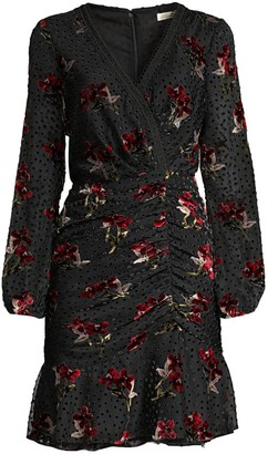 Shoshanna Julietta Floral Polka Dot A-Line Dress