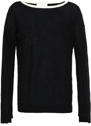 Duffy Split-back Open Knit-paneled Cashmere Sweater