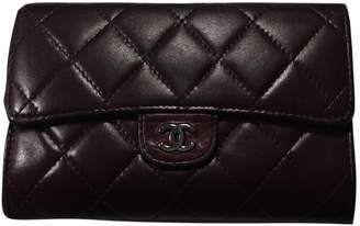 Chanel Timeless/Classique Purple Leather Wallets