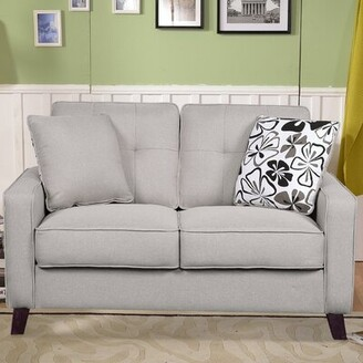 Andover Mills Dmitri Loveseat Upholstery Color: Beige/Light Grey