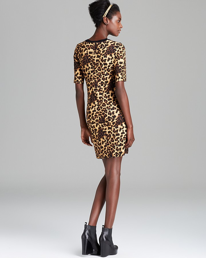Aqua Dress - Cheetah Print