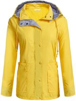 Meaneor Women Rainwear Active Outdoor Hooded Cycling Packable and Lightweight Jacket M