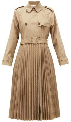 RED Valentino Pleated Technical-canvas Trench Coat - Womens - Beige