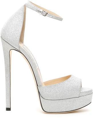 Jimmy Choo Glitter Max 150 Sandals