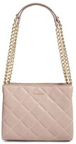 Kate Spade 'Emerson Place - Mini Convertible Phoebe' Quilted Leather Shoulder Bag - Grey