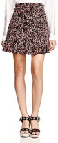 The Kooples Silk Forget-Me-Not Print Skirt