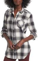 BP Plaid Cotton Blend Shirt