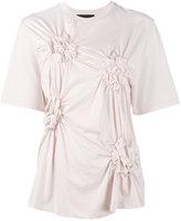 Simone Rocha Ruched flower t-shirt - women - Cotton - XS