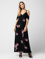 Full Tilt Floral Cold Shoulder Maxi Dress
