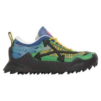 Off-White Off White Odsy-1000 Green Leather Trainers