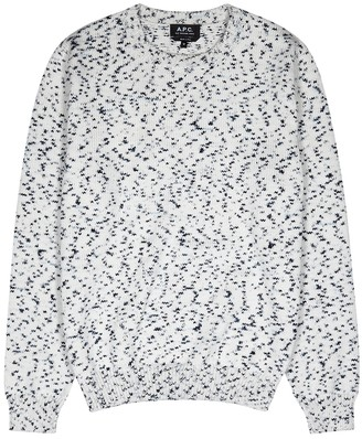 A.P.C. White knitted cotton jumper