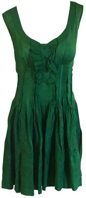 Ermanno Scervino Green Lace Dresses