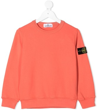 Stone Island Junior Logo Patch Crewneck Sweatshirt
