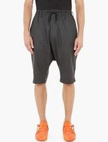 Y-3 Dropped-Crotch Wool Shorts